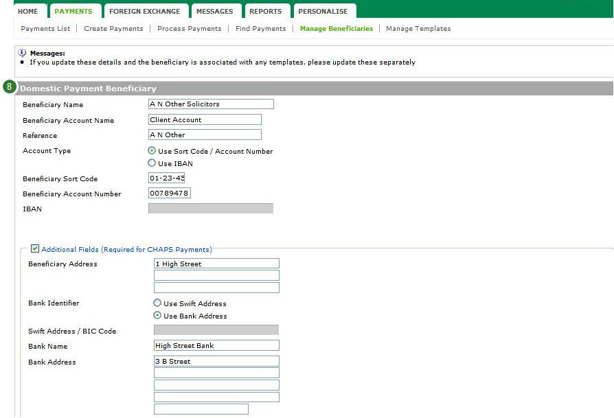 Col Amend Beneficiary 7 4294969948 Lloyds Bank Plc