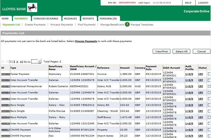 How to amend a template on Corporate Online - Move to Commercial Banking Online