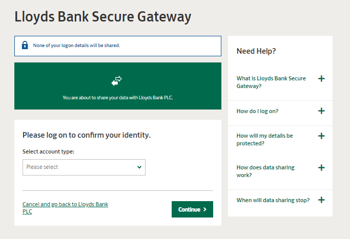 lloyds bank secure gateway