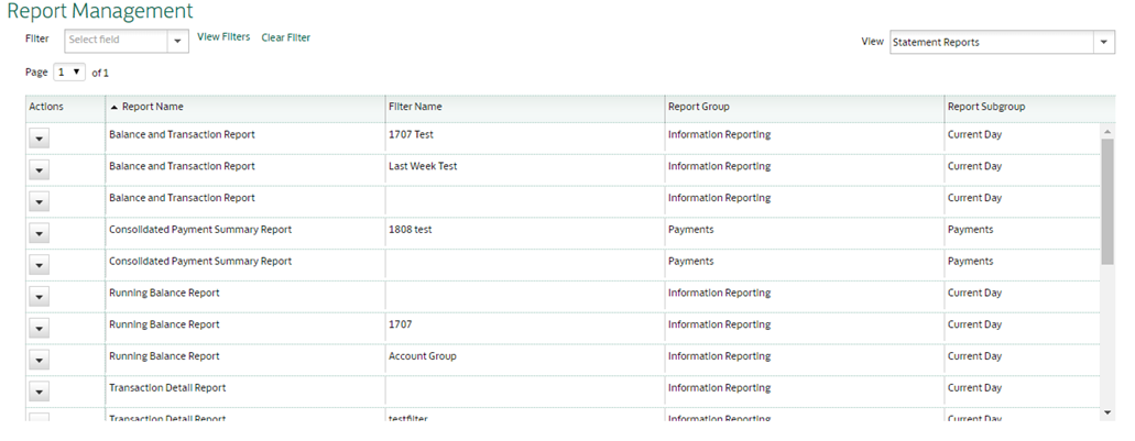 Statement Reports default View Lloyds