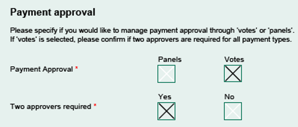 Payment approval options